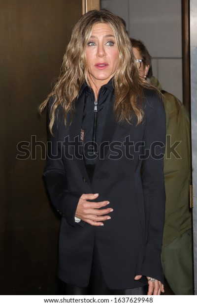 """NEW YORK - OCT 30, 2019: Jennifer Aniston appears at a promotional event for """"The Morning Show"""" on October 30, 2019, in New York."""