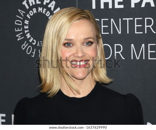 """NEW YORK - OCT 30, 2019: Reese Witherspoon appears at a promotional event for """"The Morning Show"""" on October 30, 2019, in New York."""