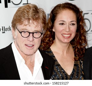 "NEW YORK- OCT 8: Actor Robert Redford and producer Anna Gerb attend the premiere of ""All Is Lost"" at New York Film Festival at Alice Tully Hall at Lincoln Center on October 8, 2013 in New York City."