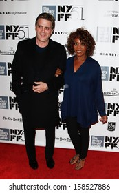 "NEW YORK- OCT 8: Actress Alfre Woodard (R) and husband Roderick Spencer attend the ""12 Years A Slave"" premiere at the New York Film Festival at Alice Tully Hall on October 8, 2013 in New York City."