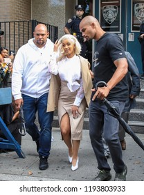 NEW YORK - OCTOBER 1: Cardi B is seen leaving 109th Police Precinct on October 1, 2018 in Flushing, Queens.
