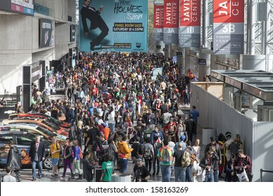 NEW YORK - October 13: General view of atmosphere during Comic Con 2013 at The Jacob K. Javits Convention Center on October 13, 2013 in New York City.