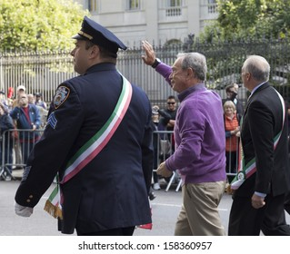 NEW YORK - OCTOBER 14: Mayor Michael Bloomberg attends the annual Columbus Day Parade on 5th Avenue on October 14, 2013 in New York City