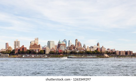 NEW YORK - OCTOBER 21:  A view of the Brooklyn skyline in New York City as viewed from Manhattan across the East River on October 21, 2017.
