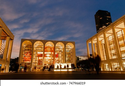 New York, October 25, 2017:Metropolitan Opera at Lincoln Center in the evening.