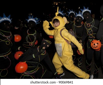 NEW YORK - OCTOBER 31: Unidentified participants attend Halloween Parade in West Village Six Avenue on October 31, 2011 in New York, NY