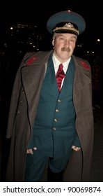 NEW YORK - OCTOBER 31: Unidentified participant in uniform of Russian Army officer attends Halloween Parade in West Village Six Avenue on October 31, 2011 in New York, NY