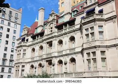 New York old architecture - Gertrude Rhinelander Waldo House, a French Renaissance revival mansion. Registered NYC Landmark.