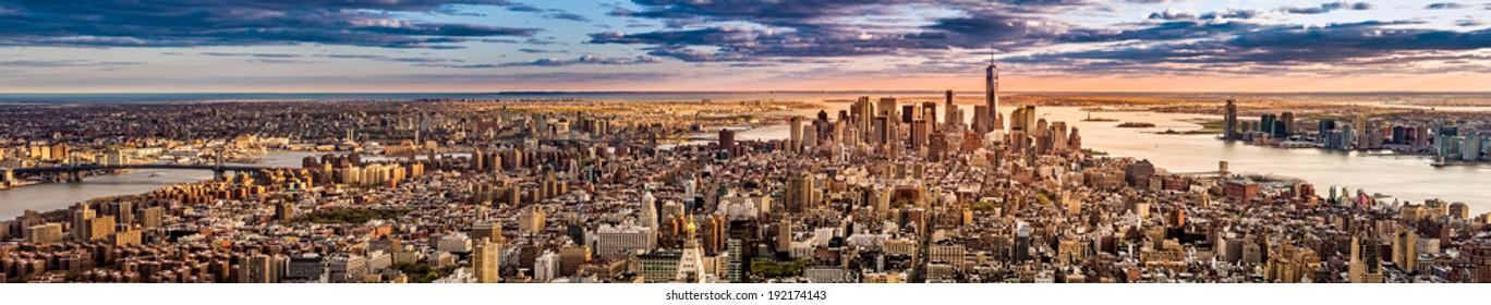 New York Panorama before sunset