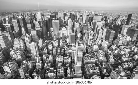 New york panoramic aerial  view.