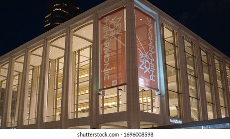 New York Philharmonic at Lincoln Center in Manhattan - NEW YORK CITY, UNITED STATES - APRIL 2, 2017