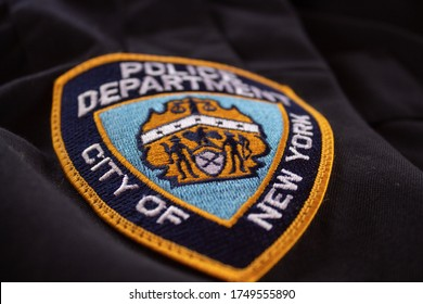 New York Police. Police officer icon close up