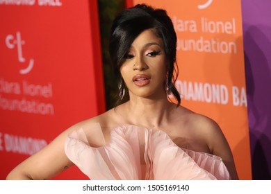 NEW YORK - SEP 12, 2019: Cardi B attends the 5th annual Diamond Ball at Cipriani on September 12, 2019, in New York City.
