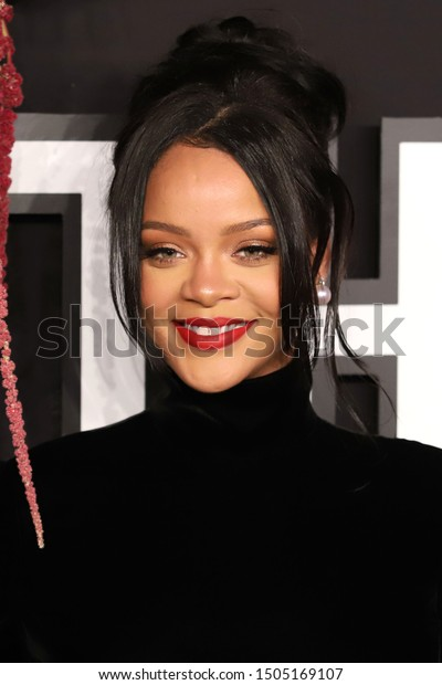 NEW YORK - SEP 12, 2019: Rihanna attends the 5th annual Diamond Ball at Cipriani on September 12, 2019, in New York City.