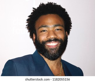 NEW YORK - SEP 13, 2018: Donald Glover attends the 4th annual Diamond Ball at Cipriani on September 13, 2018, in New York City.