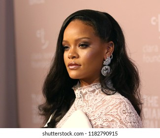 NEW YORK - SEP 13, 2018: Rihanna attends the 4th annual Diamond Ball at Cipriani on September 13, 2018, in New York City.