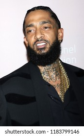 NEW YORK - SEP 13, 2018: Nipsey Hussle attends the 4th annual Diamond Ball at Cipriani on September 13, 2018, in New York City.