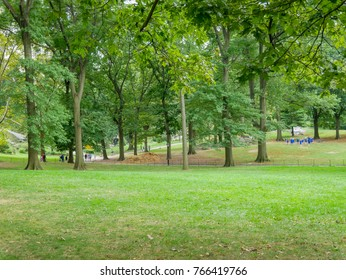 New York - Sep 2017: Central Park view in Manhattan, New York City, USA