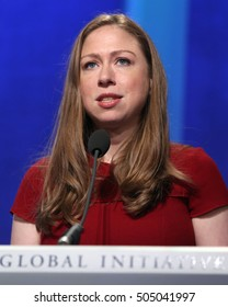 NEW YORK - SEP 21, 2016: Chelsea Clinton attends the Clinton Global Initiative Annual Meeting at The Shertaon New York Hotel on September 21, 2016 in New York City.