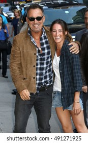 NEW YORK - SEPT. 22, 2016: Bruce Springsteen and his daughter Jessica Springsteen are seen on September 22, 2016 in New York City.