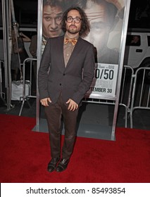 """NEW YORK - SEPT. 26: Sean Lennon attends the screening of """"50/50"""" at the Ziegfeld Theater in New York City on September 26, 2011."""