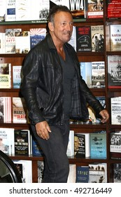 NEW YORK - Sept. 28, 2016: Bruce Springsteen appears at Barnes and Noble to promote his new book on September 28, 2016 in New York City.