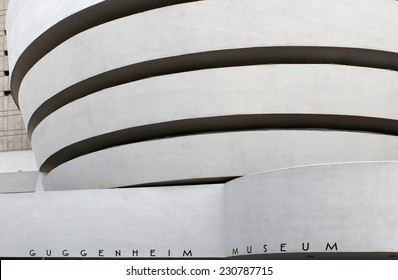 NEW YORK - SEPTEMBER 01: The Solomon R. Guggenheim Museum of modern and contemporary art, located in Manhattan, on September 01, 2013, in New York City, USA. Designed by Frank Lloyd Wright.
