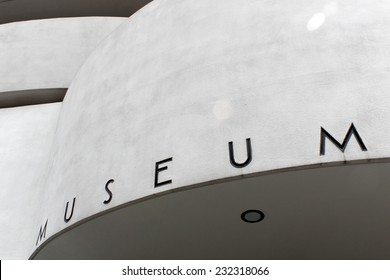 NEW YORK - SEPTEMBER 01: The Solomon R. Guggenheim Museum of modern and contemporary art, located on Manhattan, on September 01, 2013, in New York City, USA. Designed by Frank Lloyd Wright.
