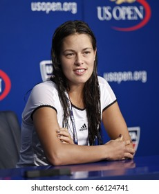 NEW YORK - SEPTEMBER 03: Ana Ivanovic of Serbia attends press conference at US Open Tennis Championship on September 03, 2010 in New York, City.