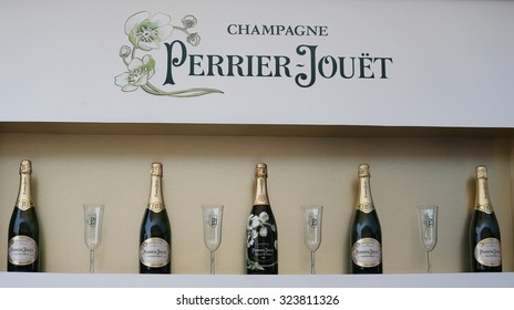 NEW YORK - SEPTEMBER 1, 2015: Perrier-Jouet champagne presented at the National Tennis Center during US Open 2015 in New York