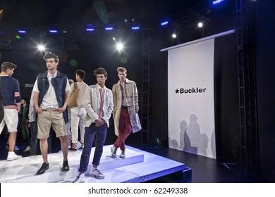 NEW YORK - SEPTEMBER 10: BUCKLER New York fashion week spring summer 2011 fashion show presentation September 10, 2010 in New York, New York