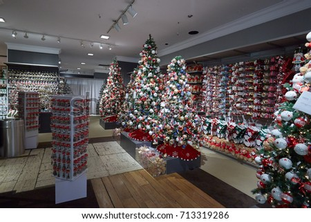 new york september 10 macys department store interior christmas decorations area on september