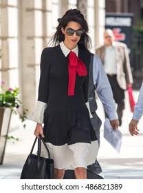 NEW YORK - SEPTEMBER 21, 2016: Amal Clooney sighting on September 21, 2016 in New York City.