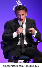 NEW YORK - SEPTEMBER 25: Sean Penn attends the Clinton Global Initiative Annual Meeting at The Shertaon New York Hotel on September 25, 2013 in New York City.