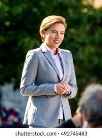 NEW YORK - SEPTEMBER 26: Scarlett Johansson is seen in filming 'Rock That Body' on September 26, 2016 in New York City.