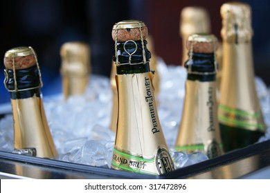 NEW YORK - SEPTEMBER 3, 2015: Perrier-Jouet champagne presented at the National Tennis Center during US Open 2015 in New York