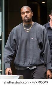 NEW YORK - SEPTEMBER 3: Kanye West is seen exiting her hotel on September 3, 2016 in New York City.