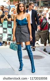 NEW YORK - SEPTEMBER 4: Olivia Culpo is seen on September 4, 2018 in New York City.