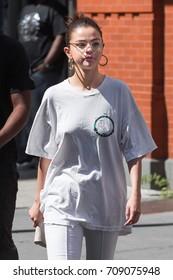 NEW YORK - SEPTEMBER 4: Selena Gomez is seen exiting her hotel on September 4, 2017 in New York City.