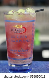 NEW YORK - SEPTEMBER 5, 2016: US Open signature Grey Goose Honey Deuce Cocktail presented at the National Tennis Center during US Open 2016 in New York.