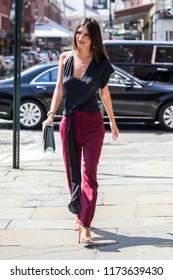 NEW YORK - SEPTEMBER 6: Emily Ratajkowski is seen on September 6, 2018 in New York City.
