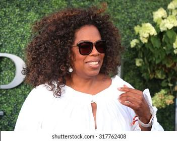 NEW YORK - SEPTEMBER 8, 2015: Oprah Winfrey attends US Open 2015 tennis match between Serena and Venus Williams at USTA Billie Jean King National Tennis Center in New York