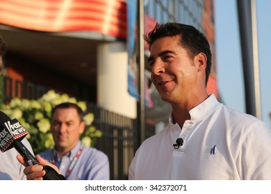 NEW YORK - SEPTEMBER 8, 2015: Fox News'  Jesse Watters taken interview in New York. Jesse Watters is getting his own Fox News Channel series of monthly specials.