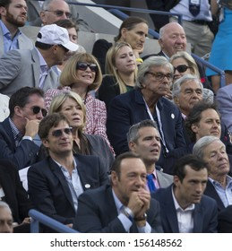 NEW YORK - SEPTEMBER 9: Anna Wintour, Martha Stuart attend US Open final match between Rafael Nadal of Spain & Novak Djokovic of Serbia at USTA National Tennis Center on September 9, 2013 in NYC