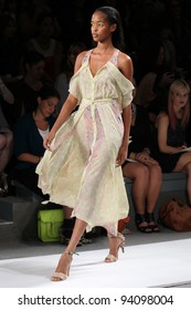 NEW YORK - SEPTEMBER 9: A model is walking the runway at the Rebecca Taylor  Collection presentation for Spring/Summer 2012 during Mercedes-Benz Fashion Week on September 9, 2011 in New York.