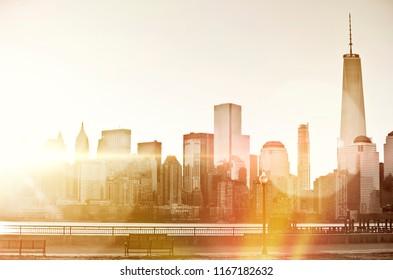 New York Skyine at dawn