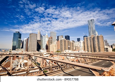 New York skyline from the Brooklyn bridge