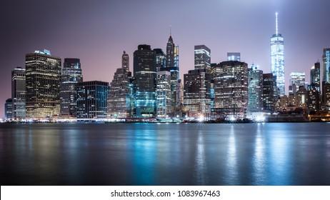 New York Skyline Brooklyn Manhatten