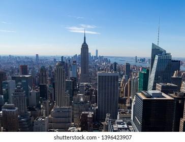 New York skyline in early spring sunshine