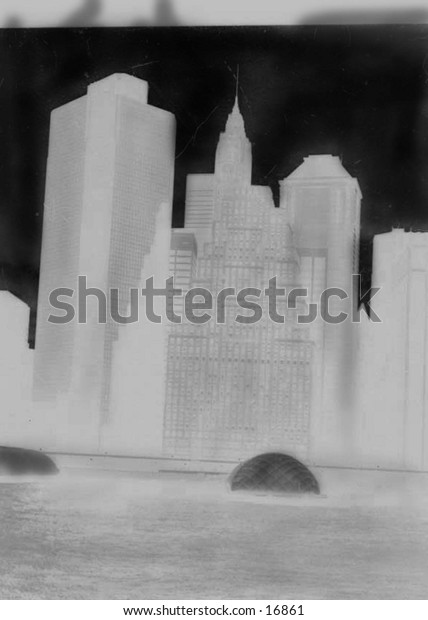 New York Skyline in White